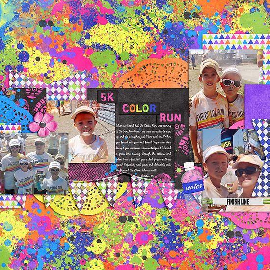 5k Color Run - Scrapbook.com