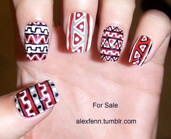 More tribal nails