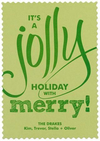 Scalloped border holiday greeting card