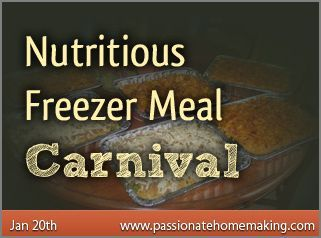 Healthy Freezer Meal Recipes