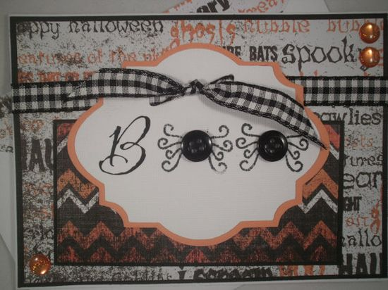 Boo Spiders Handmade Halloween Card by ComingUpCrafts