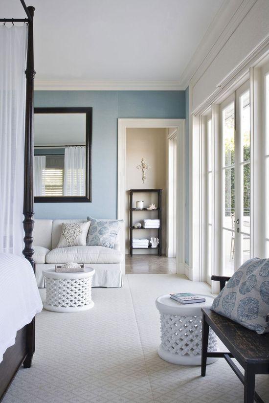 Neutral & Blue Bedroom