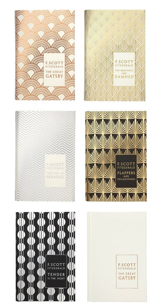 F. Scott Fitzgerald book covers designed by Coralie Bickford-Smith.
