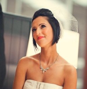 #Short hair bride #mariee aux cheveux courts ©Carla Ten Eyck