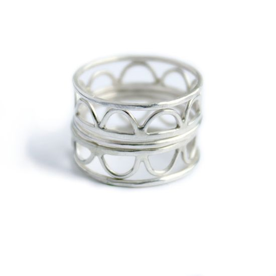 Hammered Stacking Rings Set Of 5