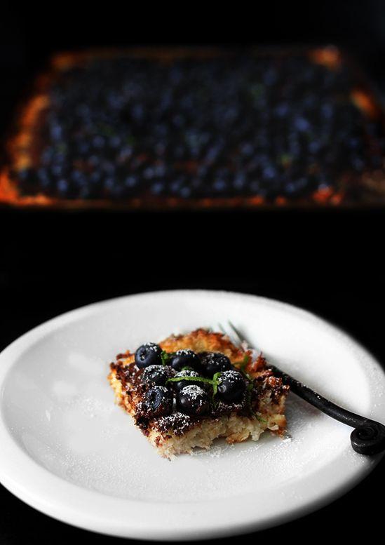 Blueberry Macaroon Tart by secondrule #Tart #Blueberry #Coconut