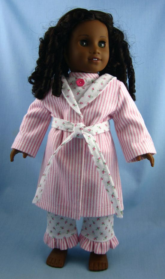 American Girl Doll Clothes   Flannel Pajama by SewMyGoodnessShop, $27.00