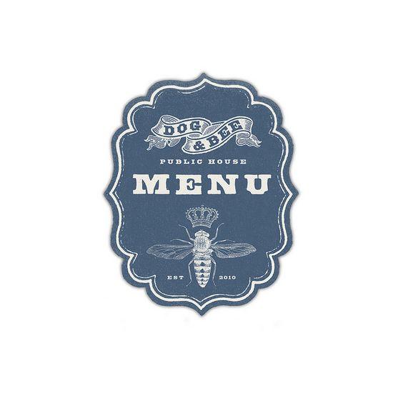 Dog & Bee Pub Menu Graphic by Howdy, I'm H. Michael Karshis, via Flickr