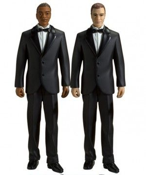 Gay and lesbian-friendly wedding cake toppers