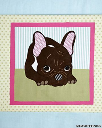 Fabric Pet Portrait  Turn a favorite pet photo into a fabric portrait without using a needle and thread.