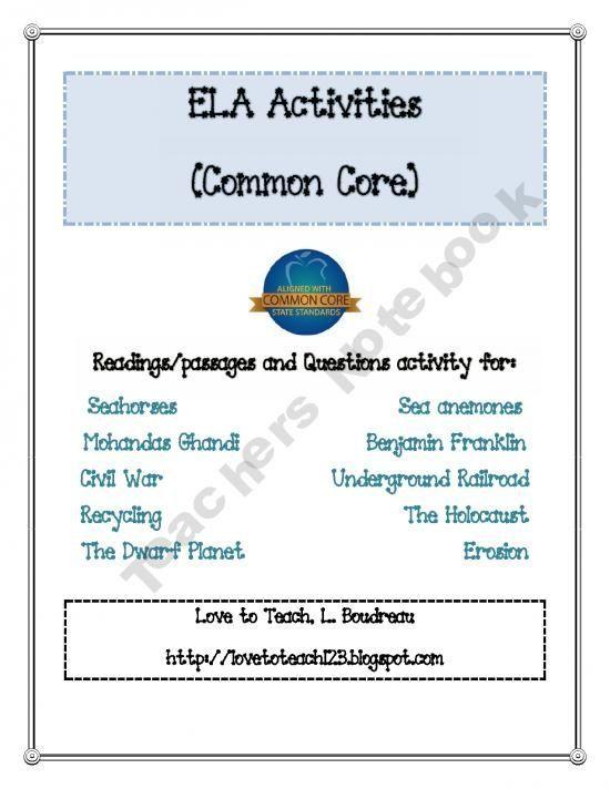ELA Common Core #soft skills