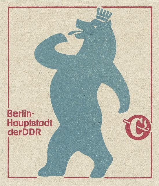 """Berlin - Hauptstadt der DDR"" German matchbox label"