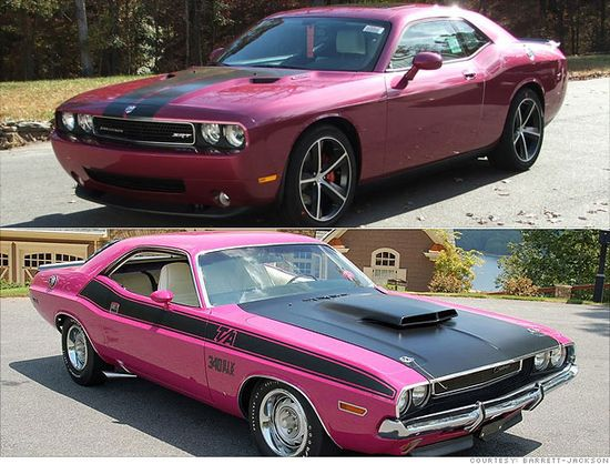 1970 and new challenger - panther pink