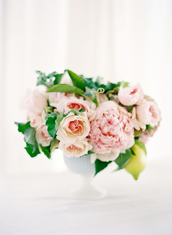 Romantic blush centerpiece