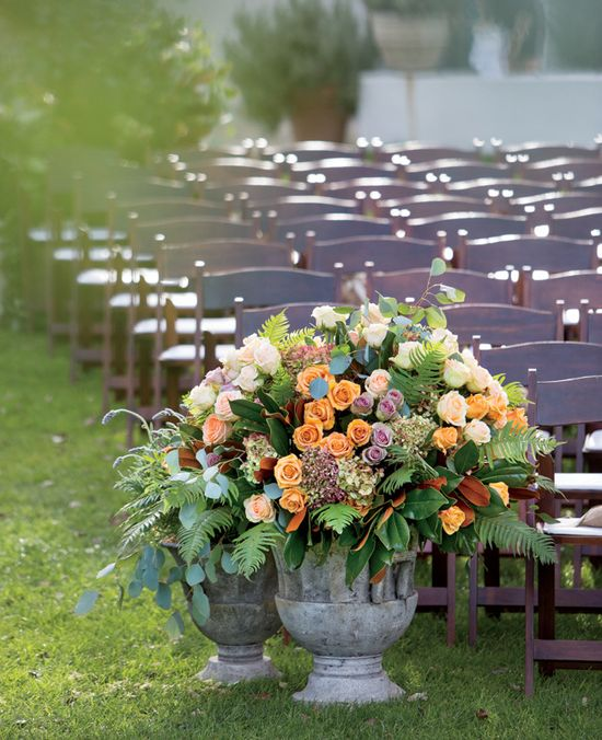 Ceremony's Aisle Flowers // Photo: Karlisch Photography // Event Consultant: Maren Parsons Events // Event Design: Mindy Rice Floral and Event Design // Featured: The Knot Blog