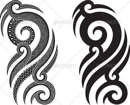 GraphicRiver Maori tattoo pattern