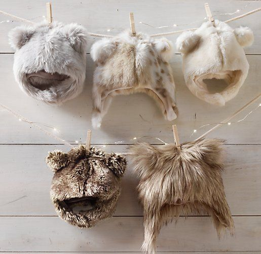 Luxe Faux Fur Baby Animal Hoods