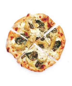 Spinach and Artichoke Pizzas Recipe