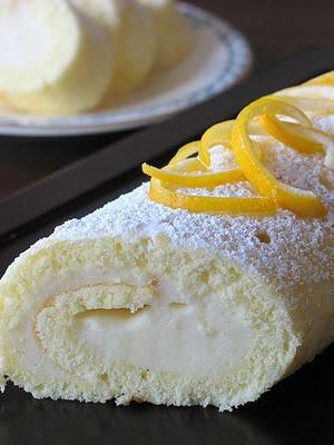 Meyer Lemon Cake Roll