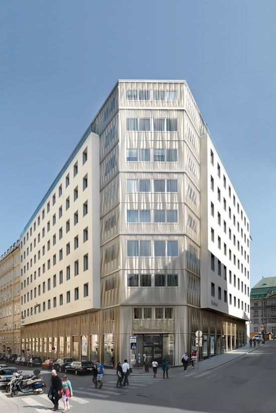 Facade VERBUND headquarters  SOLID ARCHITECTURE