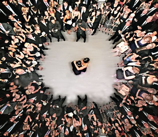 Amazing overhead shot of the first dance!