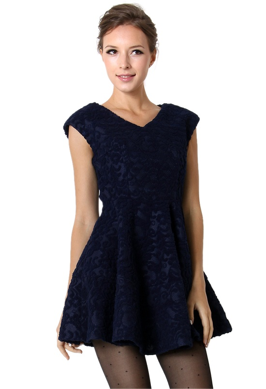 #navy blue lace.  lace dresses #2dayslook #new style #lacefashion  www.2dayslook.com