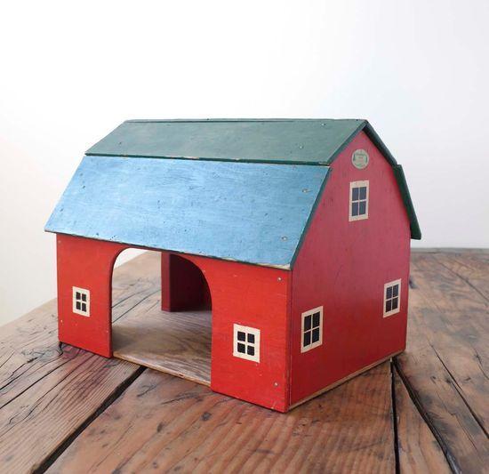 Vintage wooden red barn