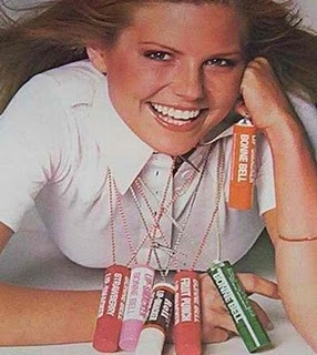 Bonnie Bell lip smackers - the fat ones were popular