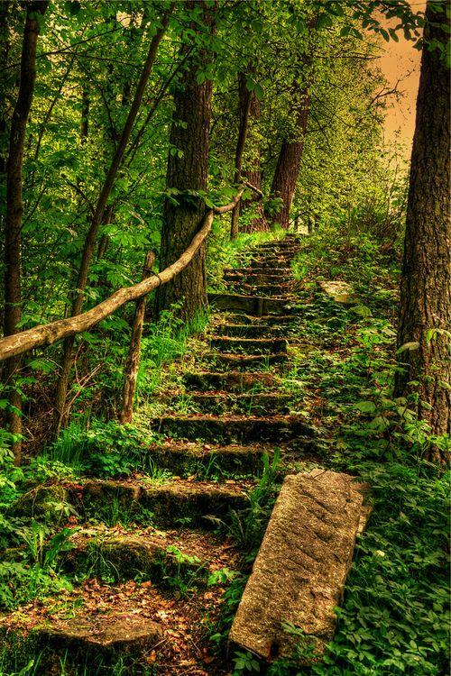 Stairway, Bavaria, Germany