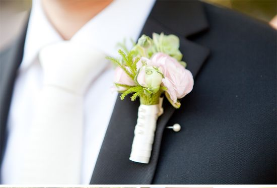 Romantic wedding in Napa by Jordan Payne Events #boutonniere #white #tie #groom #groomsmen #tux #attire #wedding