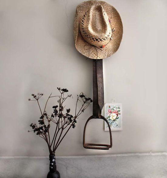 Vintage Rusty Horse Stirrup on Leather Strap by kaftansarafan, $60.00