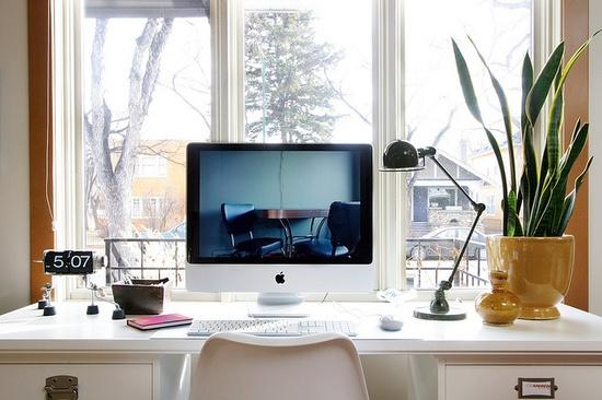 Beautiful clean office desk