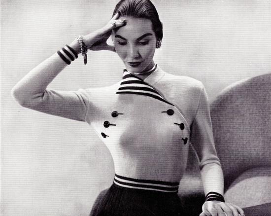 1950s, MADEMOISELLE blouse pattern