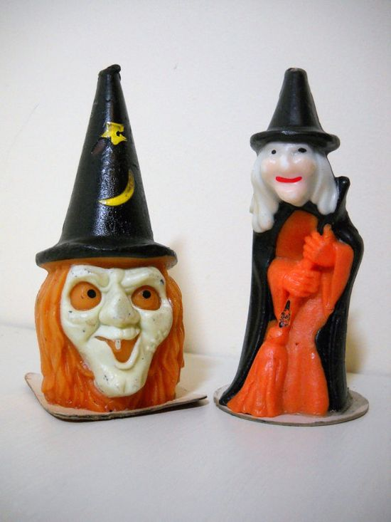 GURLY Witch Candles.....1960's
