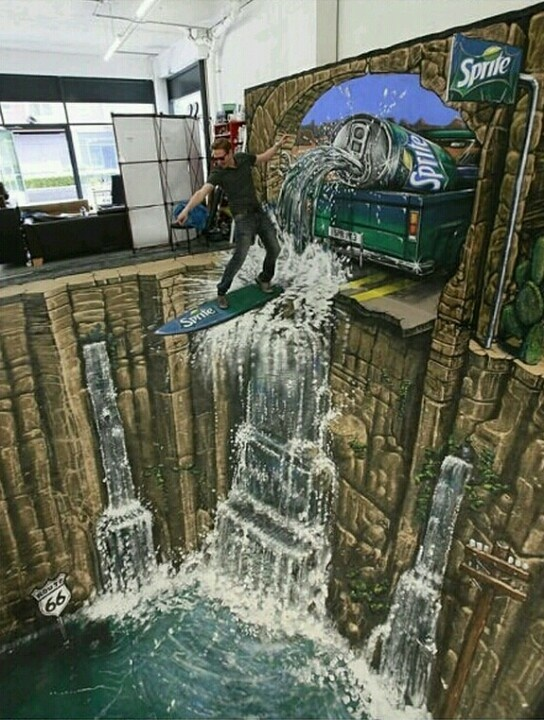 3-D art...
