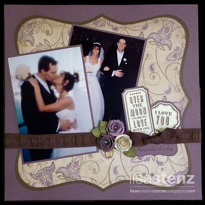wedding scrapbook layout.