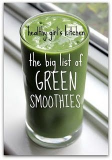 List of Green Smoothies...