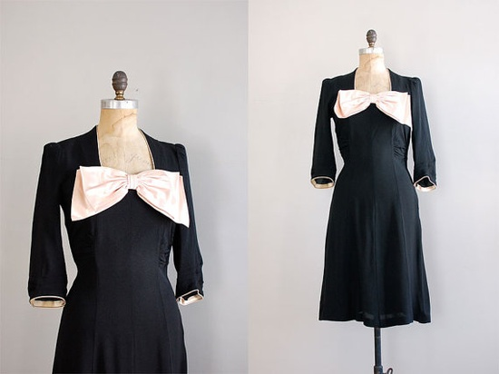 1940s Satin Doll dress
