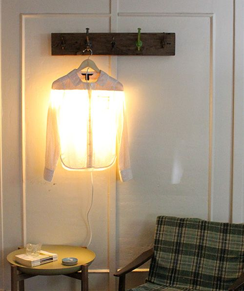 Droog Clothes Hanger Lamp Knock Off $280 down to under $30