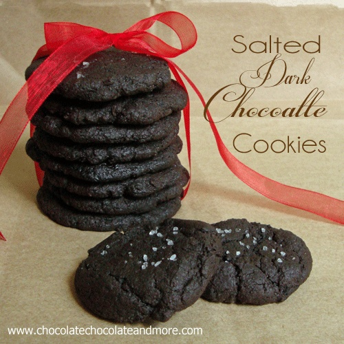 Chocolate, Chocolate and more...: Salted Dark Chocolate Cookies