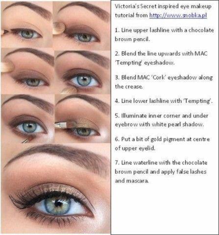 Victoria's Secret inspired eye makeup