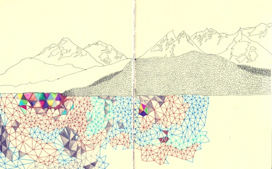 mountains and triangles