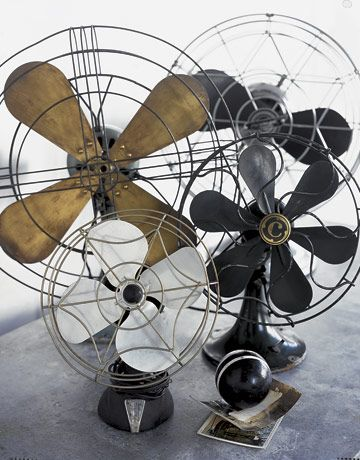 vintage fans as a group. Steampunk for the home.