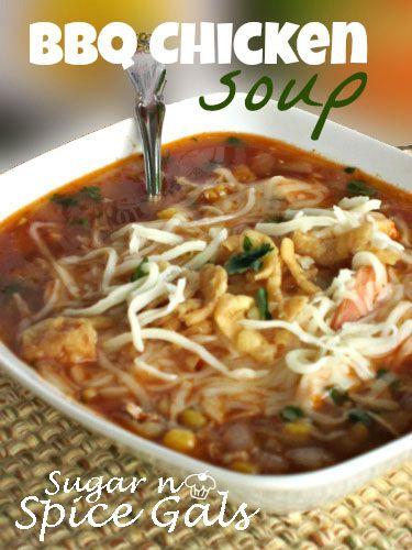 Barbecue Chicken Soup on MyRecipeMagic.com
