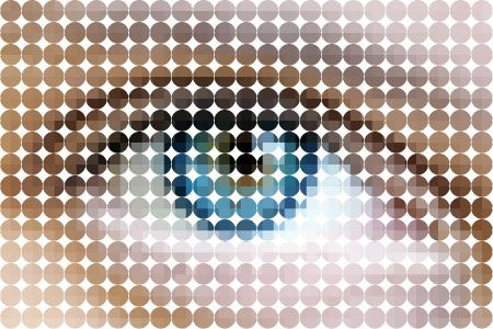 Graphically designed an eye