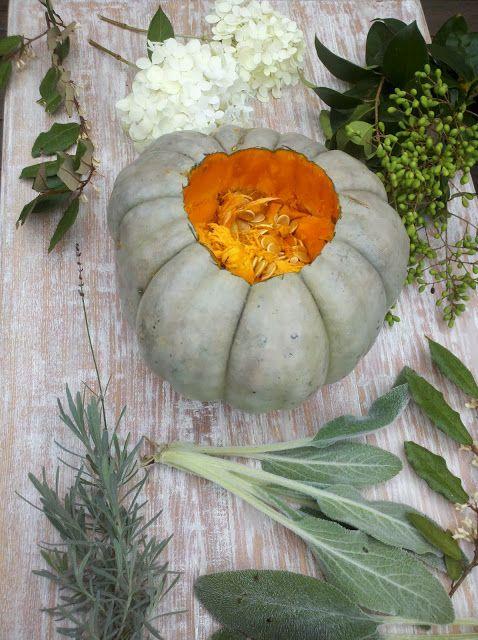 Fall Heirloom Pumpkin Flower Arrangement