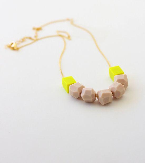Geo bead necklace