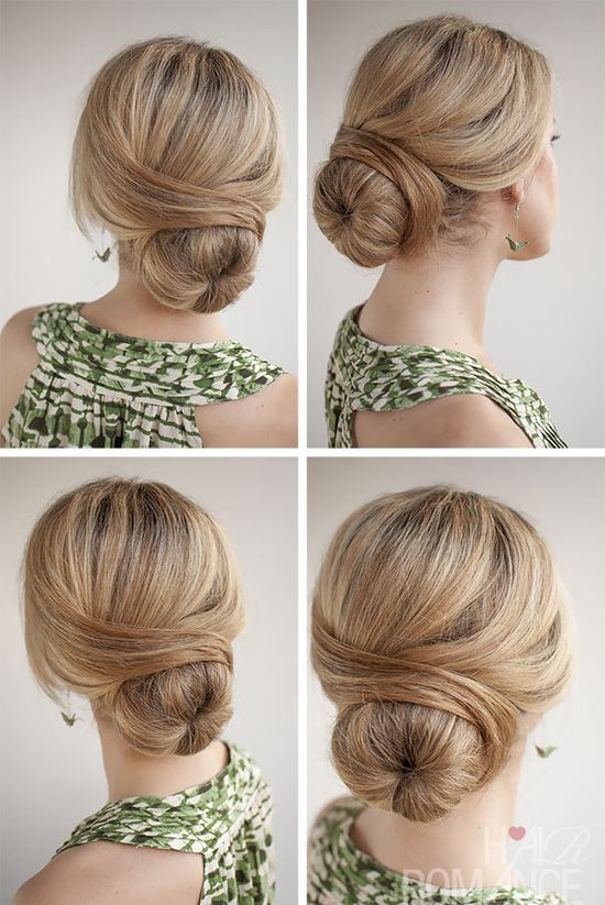 Hair Romance - 30 Buns in 30 Days - Day 29 - The Wrapped Bun