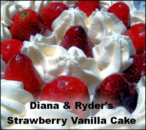 Strawberry Vanilla Cake #Recipe