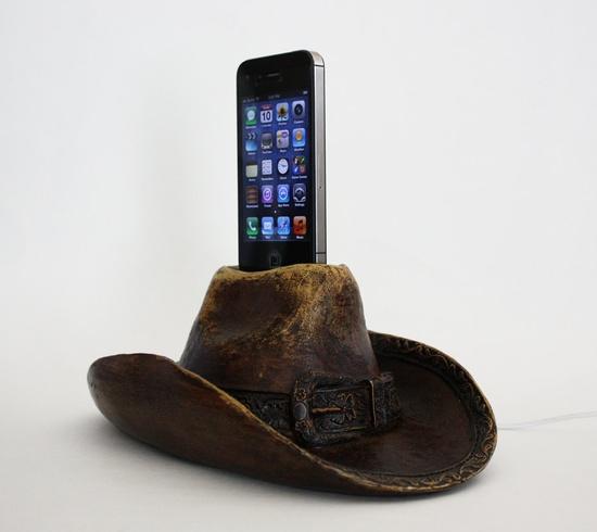 Cowboy Hat iPhone Docking Station